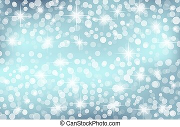 abstract blue background with circles and stars. Winter colors