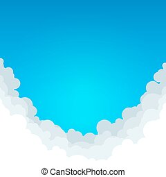 Abstract Blue Background with Clouds
