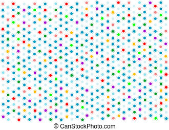 abstract blue background with colorful stars