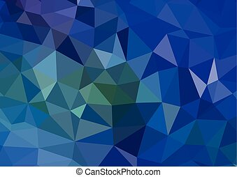 Abstract blue background with cube design