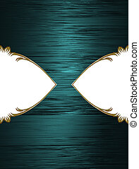 Abstract blue background with cutouts. Template for design
