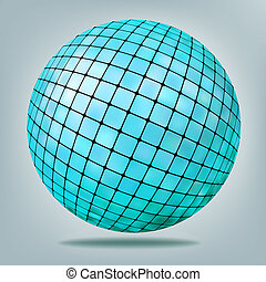 Abstract blue Background with disco ball. EPS 8