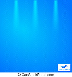 Abstract blue background with grid