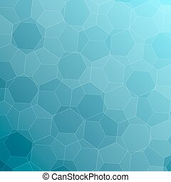 Abstract blue background with hexagons