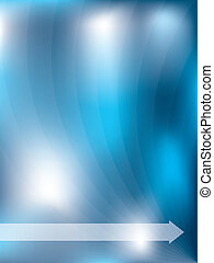 Abstract blue background with light waves