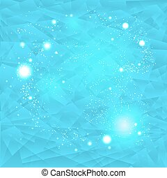 Abstract blue background with lights
