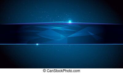 Abstract blue background with line for text and particles