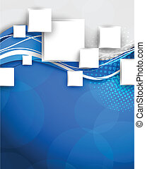 Abstract blue background with squares