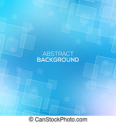 Abstract Blue background with transparent squares.