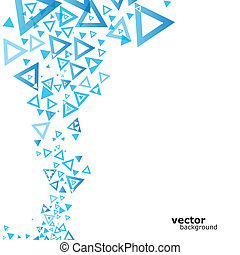 Abstract blue background with triangle. Vector illustration. Eps10.