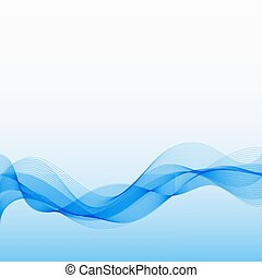 Abstract Blue Background with Wave Lines.