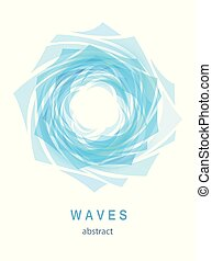 Abstract Blue Background with Waves and Water