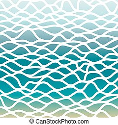 Abstract blue background with waves.