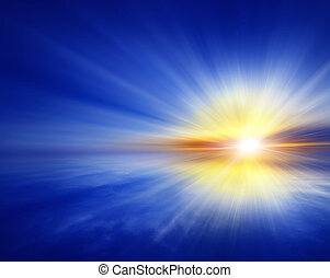 abstract blue background,sunset