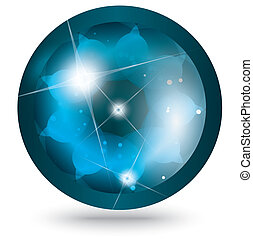 abstract blue ball