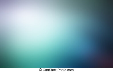 Abstract blue and green blured background - defocused lights backdrop