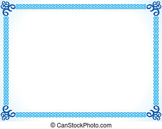 abstract blue border