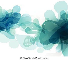 Abstract blue bubbles with place for your own text.