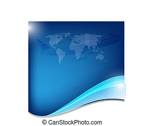 Abstract blue business background