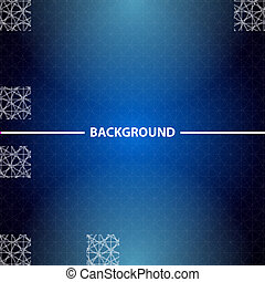 Abstract blue business background with triangles