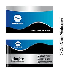 Abstract blue business cards