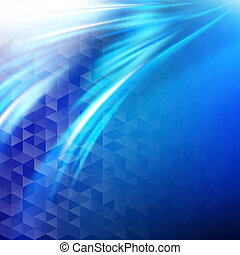 Abstract blue business wave background.
