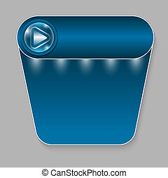 abstract blue button