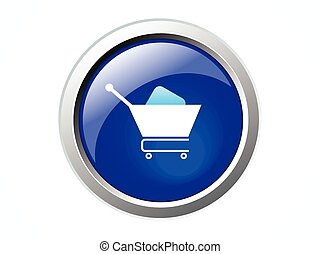 abstract blue cart icon