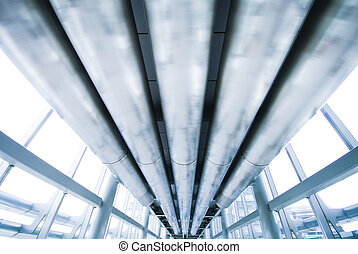 Abstract blue ceiling metal style