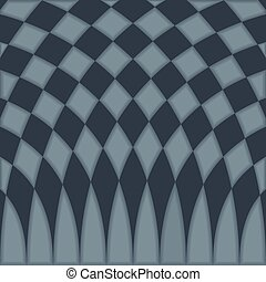Abstract blue checkered pattern background