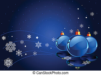 Abstract Blue Christmas Background