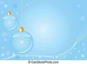 Abstract blue christmas  background, with room for text