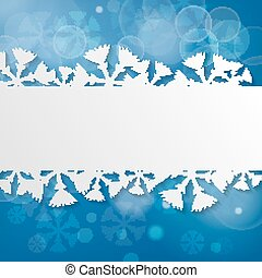 Abstract Blue Christmas Festive background with snowflakes