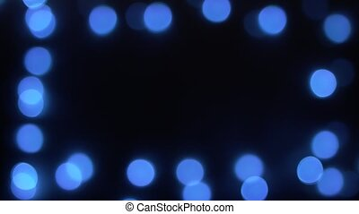 Abstract blue christmas lights blurry bokeh background