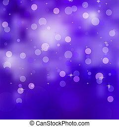 Abstract blue christmas lights. EPS 8