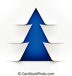 Abstract Blue Christmas Tree With White Cover
