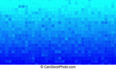 abstract blue circles mosaic loopable background