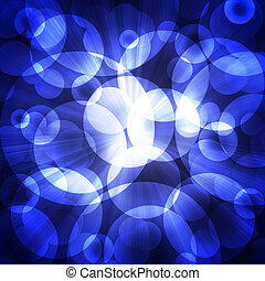 blue circles on a dark background
