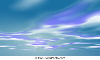 Abstract blue Cloud