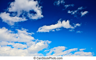 abstract blue cloudy sky