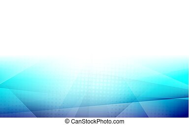 Abstract blue color gradient with halftone shapes composition background. Space for your text
