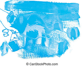 abstract blue color paint at white