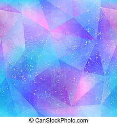 Abstract blue color triangles. Seamless pattern