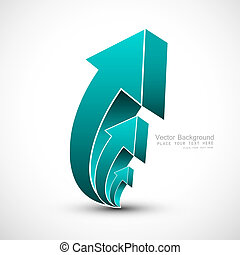 abstract blue colorful 3d arrow Vector illustration