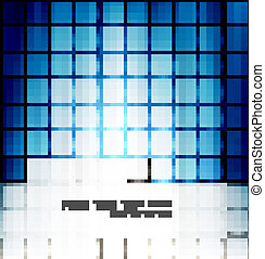 abstract blue colorful mosaic background vector design
