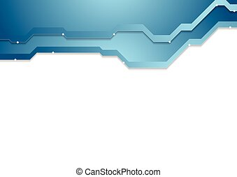 Abstract blue corporate hi-tech background