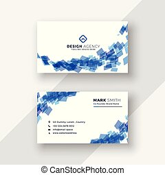 abstract blue creative business card template