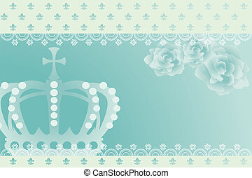 Abstract blue crown background. Illustration vector.