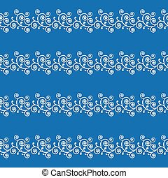 Abstract blue curve seamless pattern