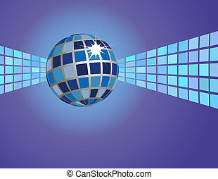 Abstract Blue Disco Ball Background